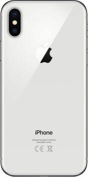 iPhone X 64 ГБ Серебристый задняя крышка